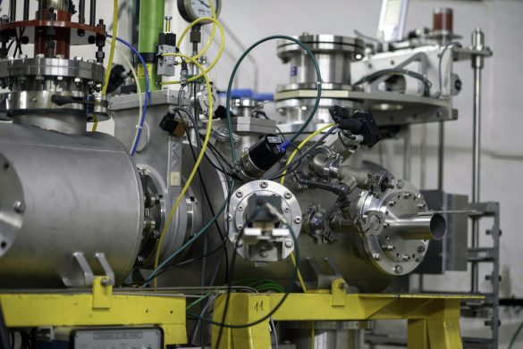 CIMAP's HE beamline for ion beam energies up to 100 MeV/u © CIMAP / CNRS